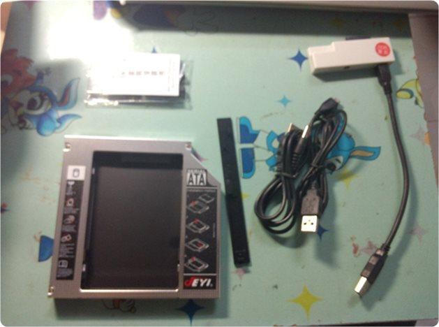 戴尔灵越Inspiron 14TR光驱位换硬盘和加装SSD教程